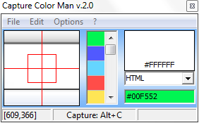 Capture Color Man Lite Interface